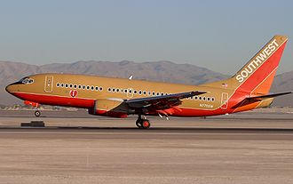 Southwest Airlines - Original Desert Sand livery, used until 2001
