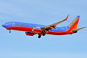 Boeing 737-8H4(w) 'N8631A' Southwest Airlines (28443959891).jpg