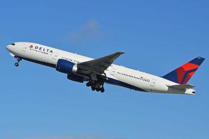 Een vliegtuig van Delta Air Lines