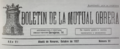 Boletín de la Mutual Obrera (10-1927) cabecera.png