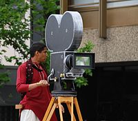 Bollywood cameraman - christmas pagent 2008.JPG