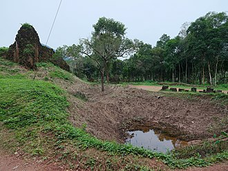 Mỹ Sơn - Bombs dropped by the US during the Vietnam War made craters that are still visible.