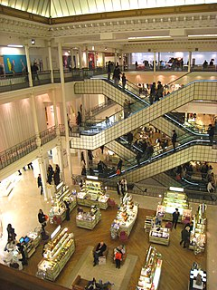Department store Retail establishment; building which offers a wide range of consumer goods