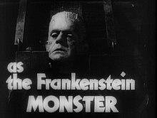 Boris Karloff nella parte del mostro