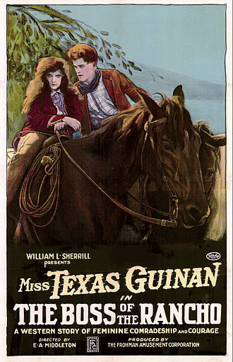 Texas Guinan - Poster for The Boss of the Rancho (1919)