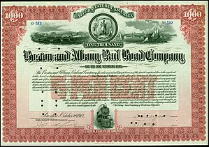 Boston and Albany Railroad - Refunding Bond of the Boston and Albany Rail Road Company, issued 1. October 1913