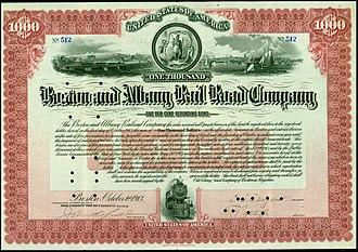 Boston and Albany Railroad - Refunding Bond of the Boston and Albany Rail Road Company, issued 1. October 1913