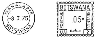 Postage stamps and postal history of Botswana - A 1975 meter stamp from Botswana.