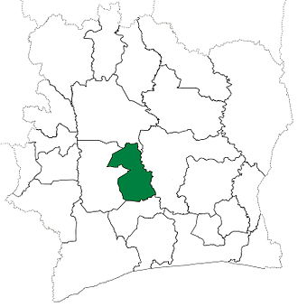 Bouaflé Department - Bouaflé Department upon its creation in 1969. It kept these boundaries until 1980, but other departments began to be divided in 1974.