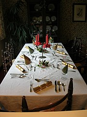 Picture of Boxing Day Dinner Table