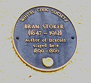 Bram Stoker Commemorative Plaque, Whitby, England (2002)