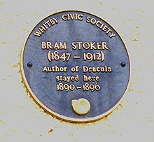 Bram Stoker Commemorative Plaque Whitby England