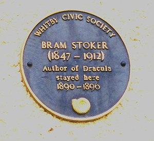Bram Stoker - Bram Stoker Commemorative Plaque, Whitby, England