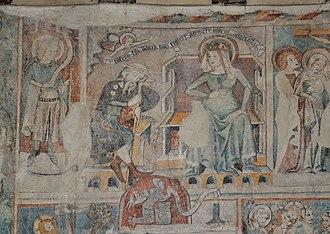 Saint Joseph's dreams - Image: Bregenz Martinskapelle Fresken 05
