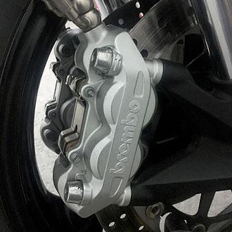 Ducati Monster 696 - Brembo Front Right Brake Caliper on a 2013 Ducati Monster 696 non-ABS