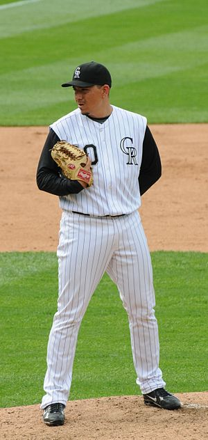Brian Fuentes - Fuentes with the Rockies in 2008