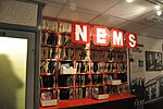 Brian Epstein's North End Music Stores (NEMS) replica, The Beatles Story.jpg