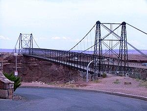 Cameron Suspension Bridge - Image: Bridge Cameron