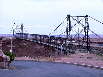 Cameron, Arizona - U.S. Route 89 crossing bridge next to the Cameron trading post