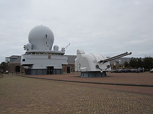 Bridge and gun turret from Hr Ms De Ruyter.JPG