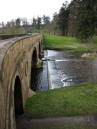 Grade I listed buildings in Northumberland - Image: Bridge over the River Aln geograph.org.uk 788047