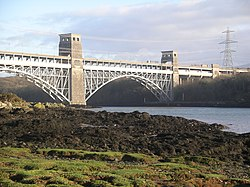 Britannia Bridge Train crossing 3.jpg