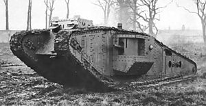 Mark IV tank - Image: British Mark IV Tadpole tank