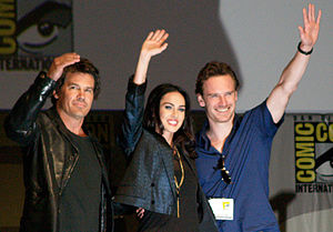 Jonah Hex (film) - Brolin, Fox, and Fassbender promoting the film at the 2009 San Diego Comic-Con International