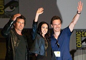 Jonah Hex (film) - Josh Brolin, Megan Fox and Michael Fassbender promoting the film at the 2009 San Diego Comic-Con International
