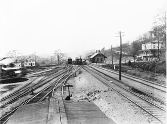 Brookfield, Connecticut - The rail depot of Brookfield Junction