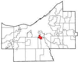 Location of Brooklyn Heights in Cuyahoga County