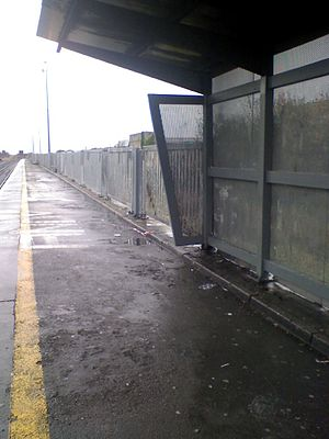 Broombridge railway station - Image: Broombridge railway station shelter