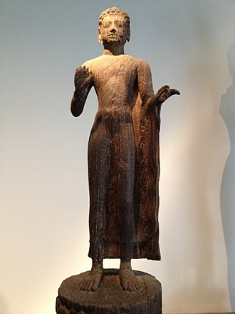 Chenla - Chenla-era statue of Buddha found at Binh Hoa, Long An