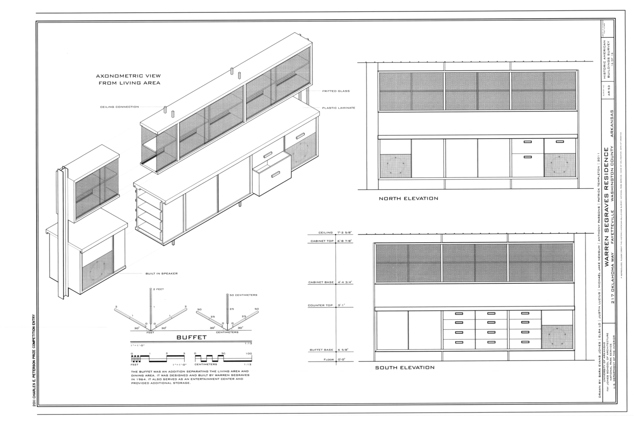 File Buffet Elevations And Axonometric View Warren