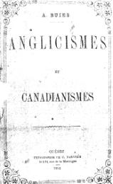 Buies - Anglicismes et canadianismes, 1888.djvu