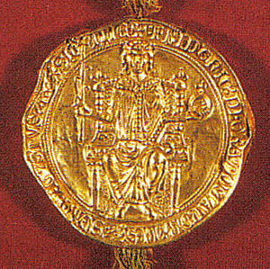 Golden Charter of Bern - The bull of the Golden Charter.