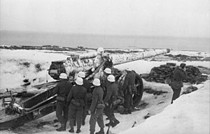 Canon de 145 L modele 1916 Saint-Chamond - A 14.5 cm K 405(f) emplacement in Festung Norwegen.