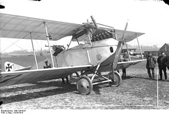 LVG C.II - Mislabeled as an Albatros C.III in the Bundesarchiv photo collection; this is an LVG C.II. Note the Bergman machine gun in the observer's cockpit.