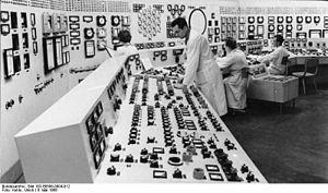 Rheinsberg Nuclear Power Plant - Control room in 1966