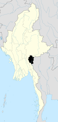 Location of Kayah State in Burma
