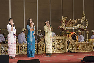 Music of Myanmar - Classical Burmese singers perform at a state luncheon reception in Naypyidaw.
