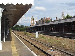 Bury St Edmunds railway station - The station platforms