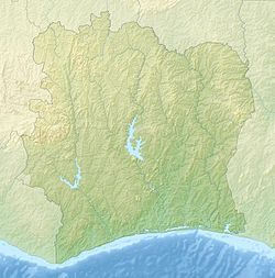 Location map Ivory Coast is located in Ivory Coast
