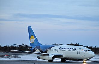 Val-d'Or Airport - Image: C GDPA CANADIAN NORTH B737 200