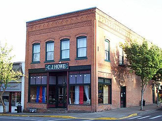 Brownsville, Oregon - C. J. Howe Building in downtown