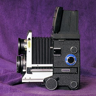 Mamiya C330 - Image: C330extended bellow for close ups
