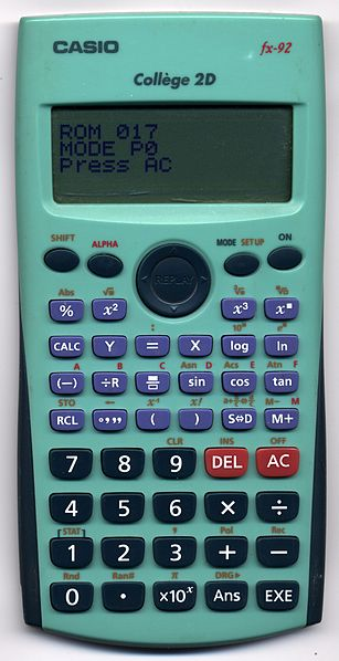 calculatrice casio fx 92 2d