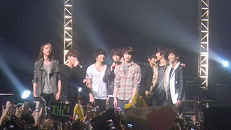 CNBLUE - CNBLUE with F.T. Island during their Stand Up concert at Nokia Theatre L.A. Live, March 9, 2012