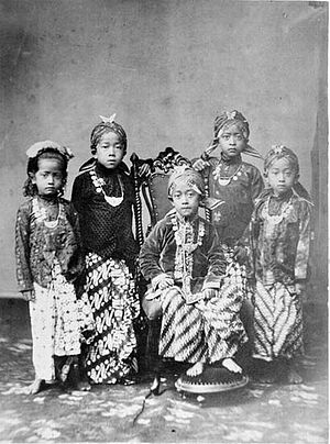 Yogyakarta Sultanate - Princes and princesses of the Yogyakarta Sultanate (1870)