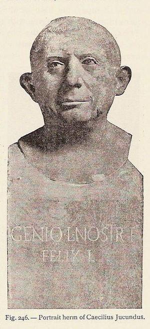 Lucius Caecilius Iucundus - Bust of L. Caecilius Iucundus.